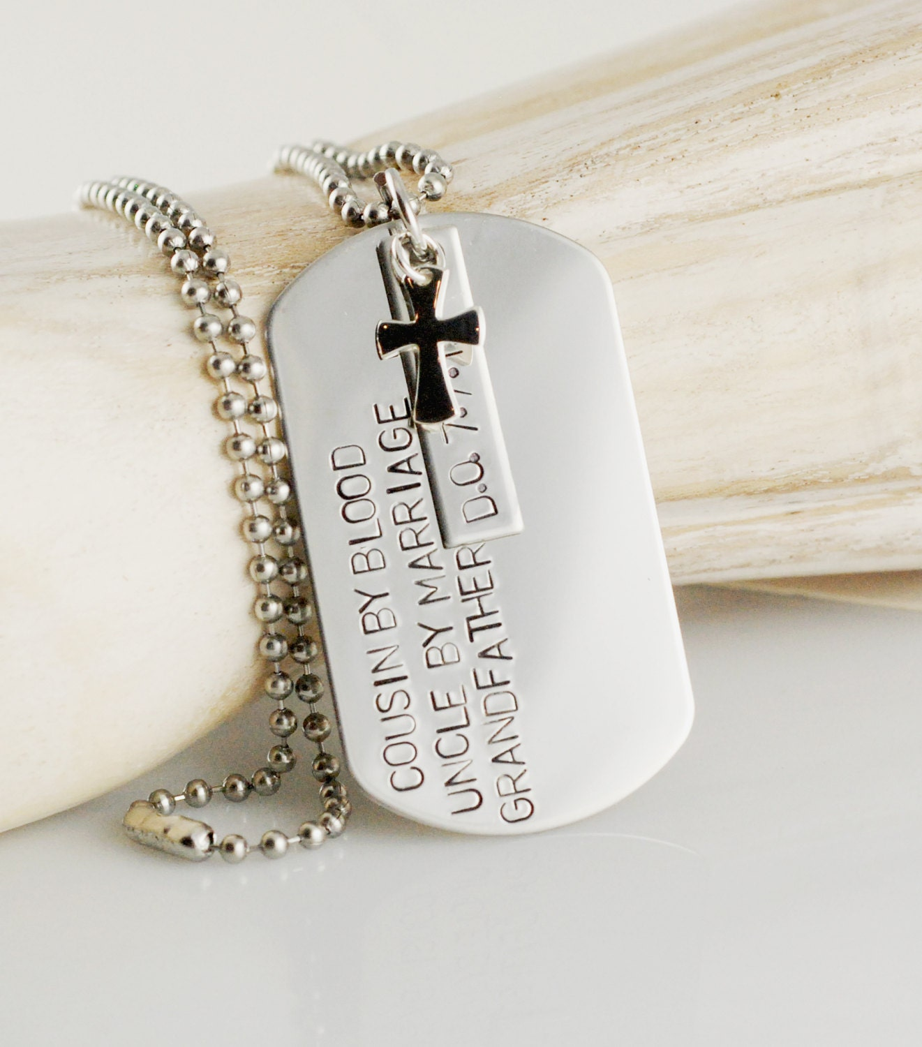 hand stamped mens necklace personalized dog tag by. Black Bedroom Furniture Sets. Home Design Ideas