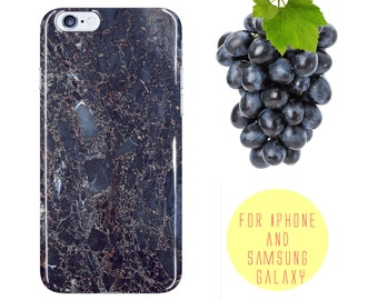 Blue Marble iPhone 6 Case Black Veined Marble iphone 7 Plus Case Black iPhone 6 Case Marble Samsung Galaxy s7 Case Protective Galaxy s7 Edge
