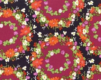 PRESALE - Strawberry Moon - Clover Crown in Berry - Sandi Henderson for Michael Miller - DC7307-BERR-D - 1/2 Yard
