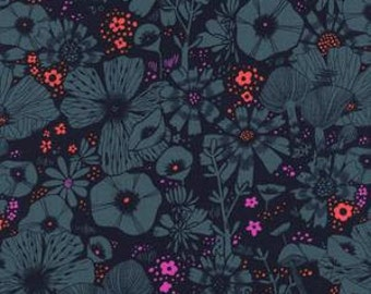 Cat Lady - Purrfect Hiding Spot in Navy - 2026-3 - Sarah Watts for Cotton + Steel - 1/2 yard