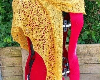 Mustard Lace Shawl