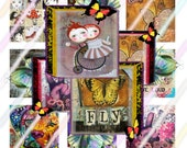 Beauty Within 1 inch Square Tile Images 4x6 Digital Collage Sheet Instant Download