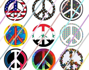 "Peace Be With You (#2) 1"" Bottle Cap Image 4x6 Digital Collage Sheet 2 Instant Download"