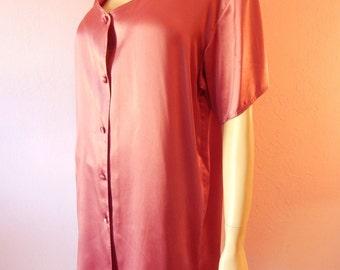 Victoria's Secret- Mauve Silk Sleepshirt- Medium