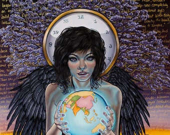 Witch Baby Surreal Girl with Wings Dangerous Angels Fantasy A4 Art Print