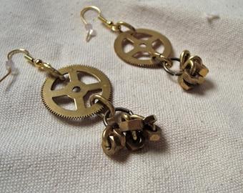 Dangling Earrings // Gear & Cluster