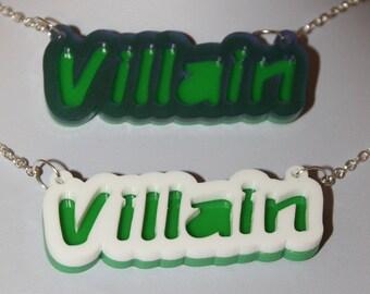 Villain necklace // laser cut necklace