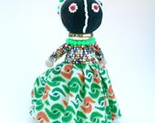 Sotho African doll from South Africa .Hand crafted with great detail.