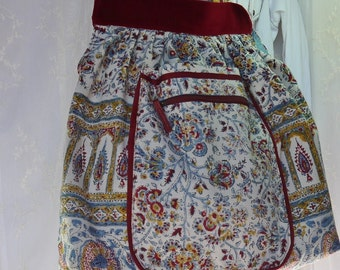 Large Hobo Bag Upcycled Vintage Spanish Blanket Extra Large Purse Bag Again