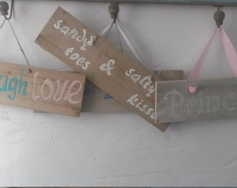 Hand painted shabby chic signs