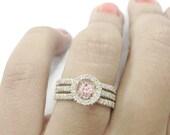 Morganite and Diamonds - Sunset - Engagement Ring