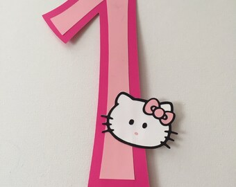Hello Kitty Inspired Cake Topper
