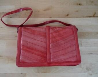 Vintage Red Eel Skin Clutch/Purse