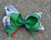 Dr Seuss Hair Bow, School Hair Bow, Ready to Ship as Pictured