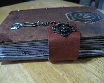 Custom Theme Handbound Journal, OOAK, Hand Made book, Theme Journal