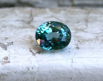 RESERVED - Loose Gemstone Natural Blue Zircon - 3.66ct.