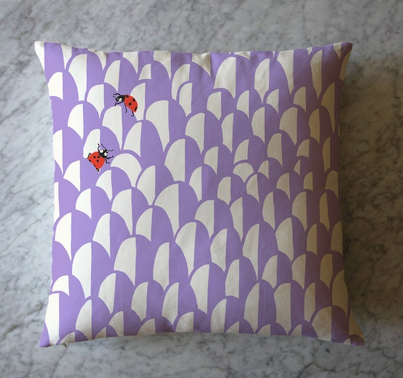 Pillow with Ladybugs and Scallop Pattern. June 21, 2016
