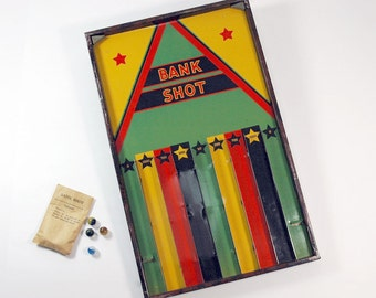 Antique Bank Shot Game Lindstrom Checkers 1930s