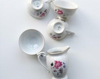 Vintage Floral Polish Teapot & Teacups {4}