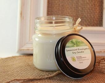 Spearmint & Eucalyptus Soy Candle