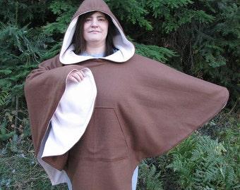 Hooded Poncho, fleece, Reversible poncho, Fleece, Hooded fleece poncho, mens poncho, womens poncho, hippie hoodie, hippie poncho,