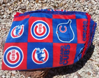 Chicago Cubs Crocheted Fleece Blanket
