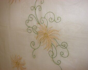 Vintage Fabric // Embroidered Fabric // Silk Society // Embroidered Silk