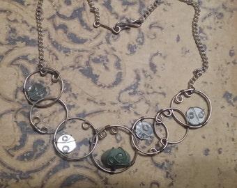Amazonite Circles Necklace