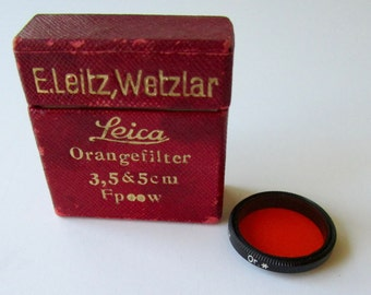 Vintage Leica Orange Filter 3,5&5cm Ernst Leitz, Wetzlar