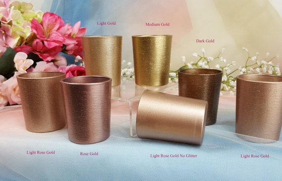 30 Per Glitter Votive Glass Candle Holders For Weddings And