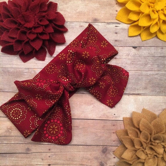 GOLDEN-RUBY HEADWRAP