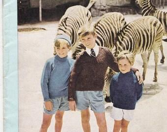 Villawool Designs for Children Knitting Pattern No 88  Vintage 1960s