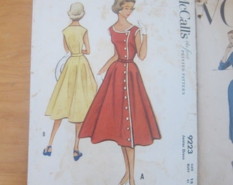 50s Vintage Sewing Dress Pattern Simplicity Junior Size 13