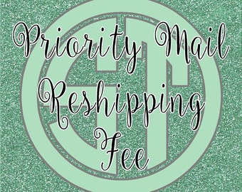 Priority mail Reshipping fee for returned packages