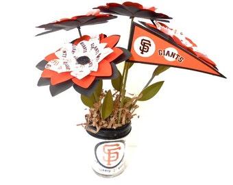 San Francisco Giants Paper Flower Bouquet