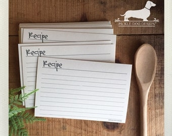 CLEARANCE! Abby Lined Recipe Cards -- (4x6, Simple, Classic, Wedding Gift, Bridal Shower Favor, Rustic, Farmhouse Chic, Cute, Birthday Gift)