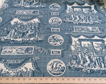 """Brunschwig & Fils Vintage 1950's Les Enfants hand print toile 100% cotton fabric 36"""" wide HARD TO FIND sold by the yard"""