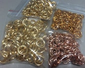 Aluminum Jump Rings. Gold, Brass & Rose Gold Colored Jumprings. 450pcs. 8mm 16ga Jump Rings. 10mm 12ga Jump Rings. Findings. Chainmail.