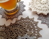 Coaster Doily Table Linen Home Decoration  Crochet Applique Bridesmaid gifts Christmas gift Hostess gift