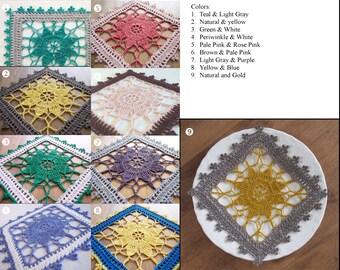 Doily / Coaster / Placemat / Square Doily / Home Decoration / Crochet Applique / MSU / MIchigan