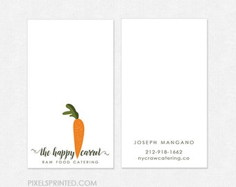 nutritionist DELUXE business cards - thick, glossy or matte - color both sides - FREE UPS ground shipping