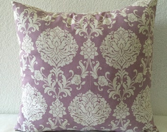 Lilac Pillows, Purple Pillows, Damask Pillows, Purple Cushion, Toss Pillows, Accent Pillow, Bed Pillows, Pillow covers