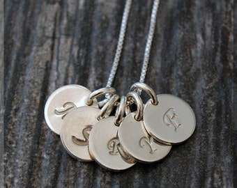 Sterling Silver Initial Charm Necklace, Initial Pendant, Silver Letter Charm, Personalized Jewelry, Necklace, Personalized Monogram charm