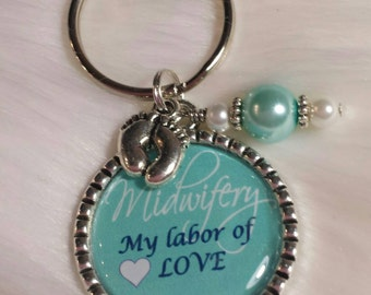 MIDWIFE keychain, DOULA, Midwifery, Student Midwife, Midwife gift, doula gift