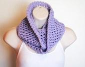 lavender lilac crochet infinity scarf