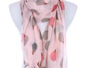 HedgeHog Print Fashion Accessory Scarf Pink