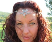 Elven Chain Head jewelry FITTED SOLDERED Elven Woodland Circlet Elven Crown Elven Circlet Hair Jewelry Head Chain Jewellery Silver Circlet