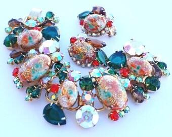 Juliana D&E Easter Egg Rhinestone Bracelet Earring Set