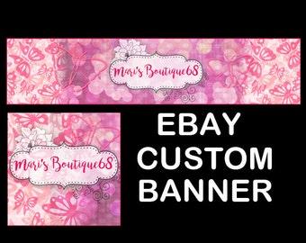 CUSTOM EBAY HEADER & Avatar, Ebay Banner, Custom Header, Blog Header, Ebay Branding, Large Ebay