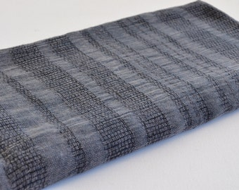 Turkish Towel Peshtemal towel Cotton Peshtemal Stone washed wicker striped dark grey Towel pure soft